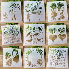 Stencils Mold-Painting-Template Flower-Plate Scrapbooking for Kids Diary DIY Layering