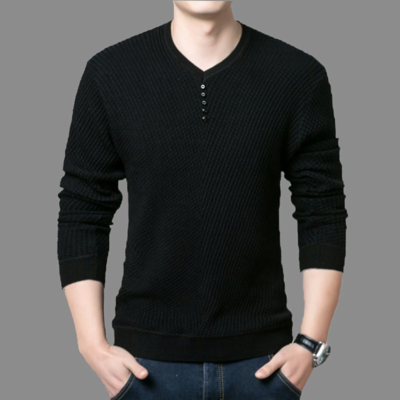 Mans Fashion Sweater Winter Autumn Clothes 2020 Leisure Casual Sweaters V-neck Retro Clothing Harajuku Long Sleeve Sweater Tops