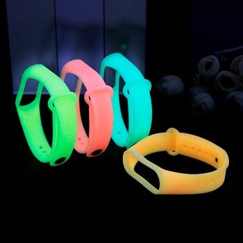 Yayuu Bracelet lumineux en Silicone brillant pour Xiaomi Mi Band 3 4 bandes de montre intelligente accessoires de Bracelet de remplacement 2