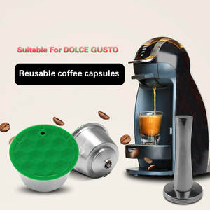 Dolce Gusto Dripper Tamper COFFEE-FILTERS Nescafe Capsule Refillable with Compatible
