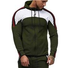 2019 autumn striped man brand sweatshirt casual good quality zipper mans hoodies tracksuits gym clothing