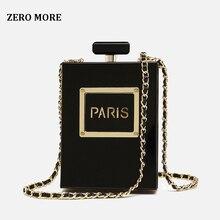 Caliente bolso transparente Mujer acrílico mujer Casual negro botella bolsos cartera París fiesta aseo boda embrague noche bolsas