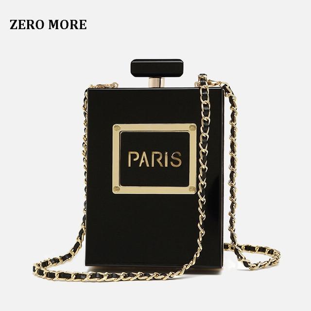 Gorąca przezroczysta torba kobiety akrylowe kobiety w stylu casual, czarny torebki na butelki portfel Paris Party toaletowe ślubne torebki wieczorowe typu clutch