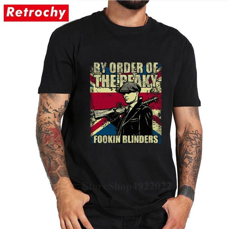 By Order Of The Peaky Fookin Blinders - Peaky Blinders Tshirt Vintage Print T Shirt Men's Short Sleeve Hipster T-shirt Camisetas