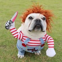 Костюмы для собак на Хэллоуин, забавная одежда для домашних животных, регулируемый Косплей Костюм для собак, наборы, новинка, одежда для средних и больших собак, бульдог, мопс