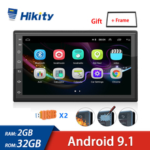 Hikity Android 9.1 2 Din Car Multimedia Player GPS Autoradio 2+32GB  Wifi Car Stereo For Volkswagen Nissan Hyundai Kia Toyota