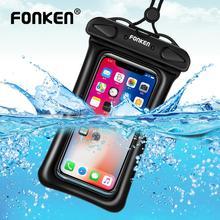 FONKEN водонепроницаемый чехол для телефона подводный чехол для телефона IPX8 сухая Сумка Подушка безопасности Поплавковый чехол для хранения сенсорные чехлы для телефонов Android