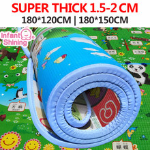 Infant Shining Baby Play Mat Toy Crawling Puzzle Thick Play Mats 200*180*3CM Two Sided Infant Climb Pad Thick Play Bebe Carpet(China)