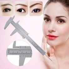 150 мм пластиковая линейка для бровей, измерительный штангенциркуль, тату, микроблейдинг, штангенциркуль, линейка для перманентного макияжа, измерительный инструмент, тату