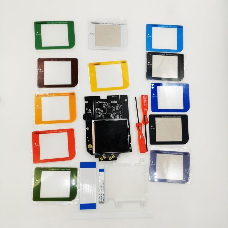 Diy tela colorida lente osd rasga maior lcd de alta definição ips retroiluminação kit para gameboy dmg gb console dmg ips display lcd