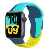 Cinturino in Silicone per cinturino Apple Watch 44mm 40mm 38mm 42mm nero unità/Prid smartwatch cinturino cinturino sportivo serie iWatch 6 se 5 4 3