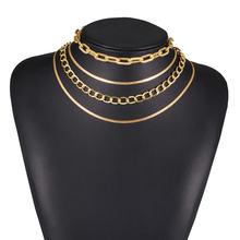 Ожерелье чокер многослойное в готическом стиле Массивное колье