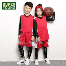 College Basketball Jerseys Boy Girl Football Tracksuits Children Soccer Uniforms Leggings Training Kids T-Shirt Shorts Set Suit(China)