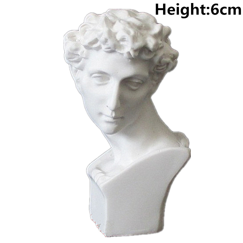 David Head Portraits Bust Mini Gypsum Statue Michelangelo Buonarroti Home Decoration Resin Art&Craft Sketch Practice M3098