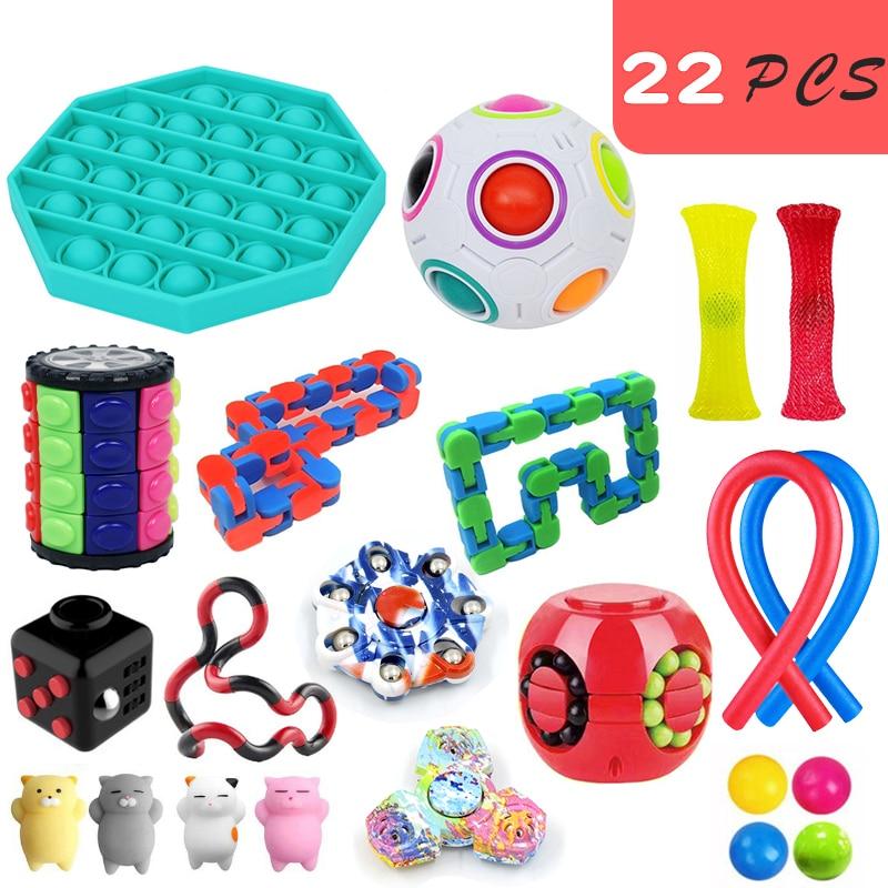Fidget Toys 18/21/23PCS Pack Sensory Toy Set Antistress Relief Autism Anxiety Anti Stress img3