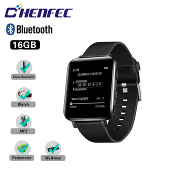 MP3 Player Clip with Bluetooth Function, Sports Watch MP3 Player with Touch Screen, Mini MP3 Player, HiFi Lossless Music Player