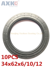AXK  10pcs  TC 34X62X6 34X62X10 34X62X12   Skeleton Oil Seals  high-quality Seals Radial shaft seals 10pcs axk 25x47x7 tc25x47x7 nbr skeleton oil seal 25 47 7 seals axk high quality seals radial shaft seals nitrile rubber