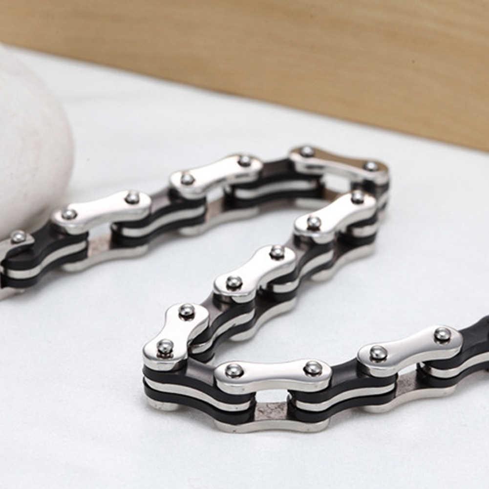 Moda mężczyźni łańcuch rowerowy urok bransoletka na rękę bransoletka na rękę biżuteria ręczna Decor prezent