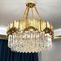 Винтажная хрустальная лампа для гостиной  роскошный качественный стеклянный подвесной светильник