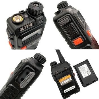 2PCS BAOFENG UV-3R+ Mini Walkie Talkie UHF VHF Portable CB Radio Transceiver UV3R Plus Amateur Ham Radio Station Woki Toki 3W 2