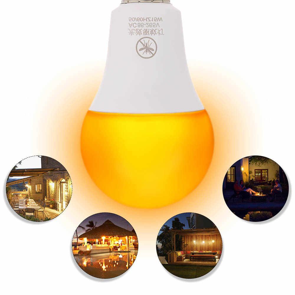 Лампа от комаров, желтый светодиодный светильник, лампа без синего цвета, светильник для улицы, E26/27, 15 Вт, светильник от комаров, лампа без УФ, ночной Светильник