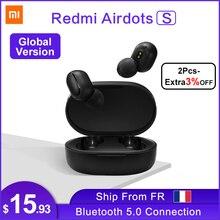 Xiaomi Redmi AirDots S אוזניות אוזניות Bluetooth אוזניות 5.0 TWS אלחוטי סטריאו SBC חמוד מיני אור אוזניות אוטומטי טעינת תיבה
