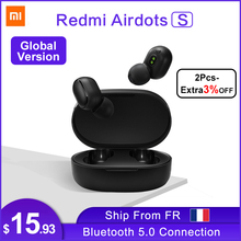 Xiaomi Redmi AirDots S Earbuds Earphone Bluetooth Headset 5.0 TWS Wireless Stereo SBC Cute Mini Light Earphone Auto Charging box
