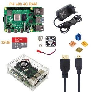Image 3 - Raspberry Pi Modelo B 4 4G Kit + 5V 3A Power Adapter + Acrílico Case + Ventilador de Refrigeração + Cabo HMDI + Dissipador de Calor + 16/32G Cartão SD Opcional