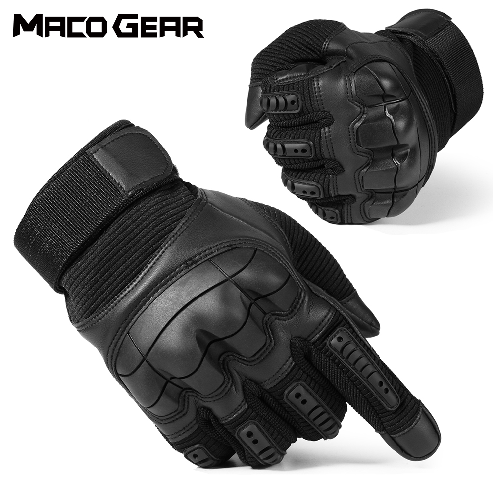 Hiking Touch Screen Hard Knuckle Tactical Gloves PU Leather Army Military Combat Airsoft Outdoor Sport Cycling Paintball Hunting Swat