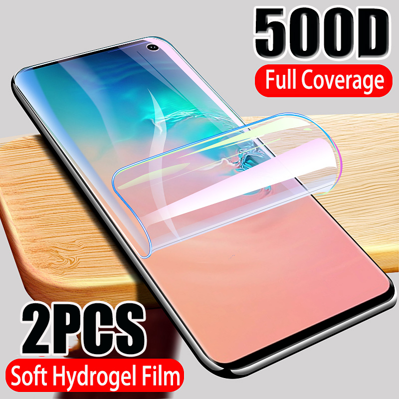 500D Full Cover Hydrogel Film Screen Protector For Samsung Galaxy S10 S9 S8 S10E Note 10 PLUS 8 9 Screen Protector For A50 A70