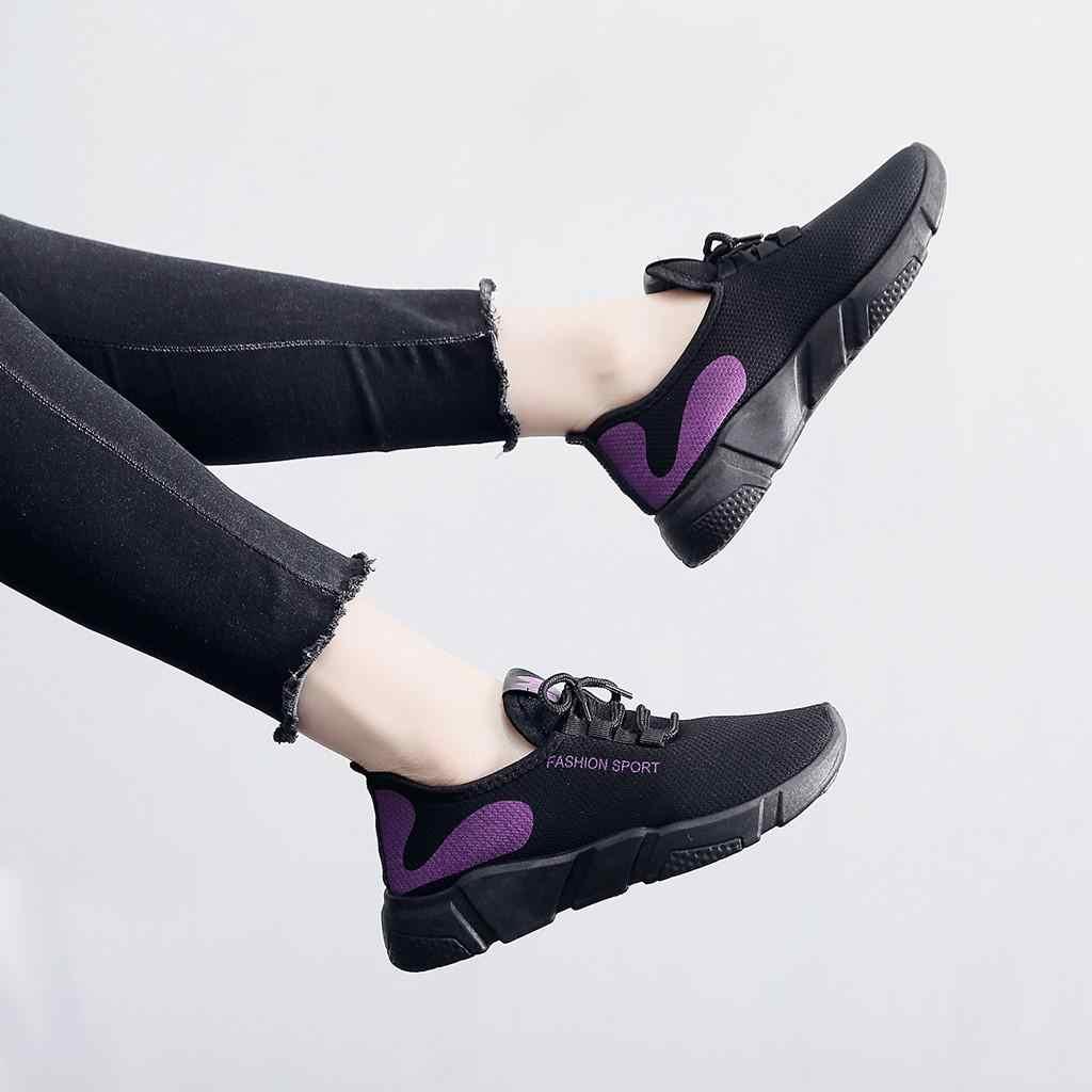 Giàu Có Mùa Hè Nữ Giày Lưới Thoáng Khí Đế Sneakers Nữ Phối Ren Lưới Thời Trang Giày Chạy Thể Thao