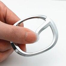 Автомобильная эмблема рулевого колеса для Demio Axela Atenza 323 2 3 6 626 CX3 CX5 CX7 RX8 GH MS Наклейка ABS Серебряный 3D V Логотип Аксессуары
