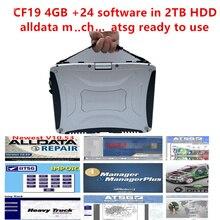 Kit de réparation automobile, kit de données, cf19, kit de réparation automobile, m che, 2020 ATSG ordinateur portable pour Panasonic cf19, disque dur 24, 2 to, 4 go, installation de puits
