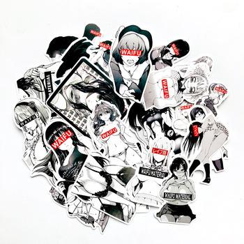 30 sztuk Waifu materiał Vinyl kalkomania walizka laptop samochód ciężarówka Anime Hentai Sexy Pinup Mang dziewczyna wodoodporna stylizacja samochodu tanie i dobre opinie VeiLvem 3-6cm 30pcs