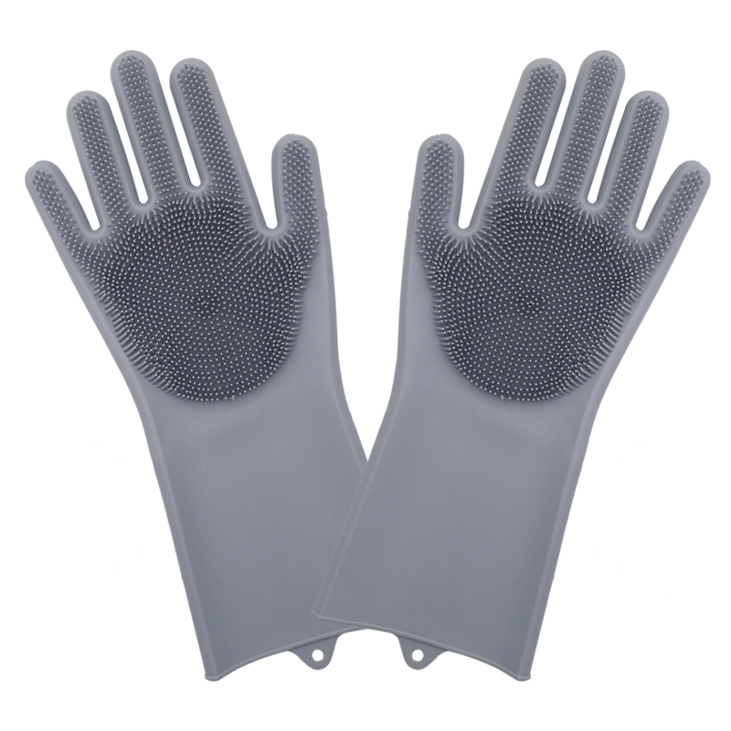Dish Washing Cleaning Gloves With Cleaning Brush For Cleaning Dishes Kitchen And Housekeeping 5