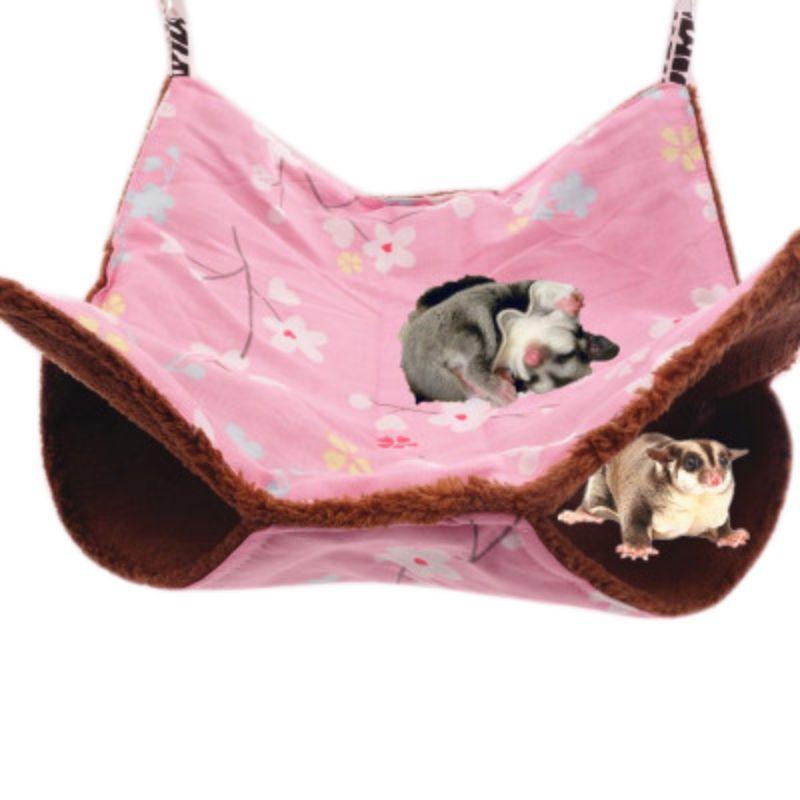 font b Pet b font Hamster Bed Nest Guinea Pig Ferret Hammock Hanging Warm Soft