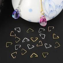 20-100 pçs 6x10mm metal ferro triângulo fechos fivela para diy brincos pulseira colar jóias fazendo acessórios