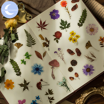 YueGuangXia Botany Series Deco Diary Toy Stickers Scrapbooking Pad Planner Decorative Stationery Stickers Accessories 40Pcs/bag mr paper 45pcs bag garden series washi deco diary stickers scrapbooking pad planner decorative stationery stickers accessories