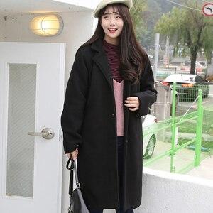 Image 5 - Mieszanki wełny kobiety wysokiej jakości ciepłe eleganckie Ulzzang cały mecz jesień zima modne koreański styl moda damska odzież Chic