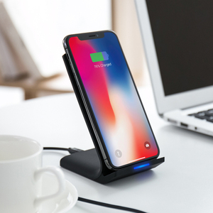 Image 5 - 10W Wireless Charger for Samsung Galaxy Note 10 S10 S9 Wireless Fast Charging Stand Holder for iPhone 11 X Xs Max 8 Plus Adapter
