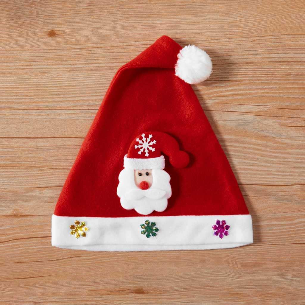 Christmas adult men's and women's hats sequined Christmas hats Christmas party dress up antlers Christmas hats бейсболки 50*