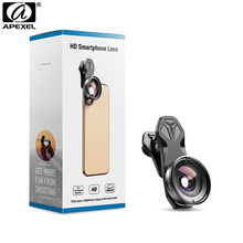 APEXEL HD Camera Phone Lens Kit 110 degree 4K Wide angle lens With CPL Star filter for iPhonex Samsung s9 all smartphone