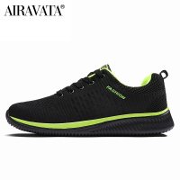 green-black-Men Women Knit Shoes Breathable Running Walking Gym Sneakers