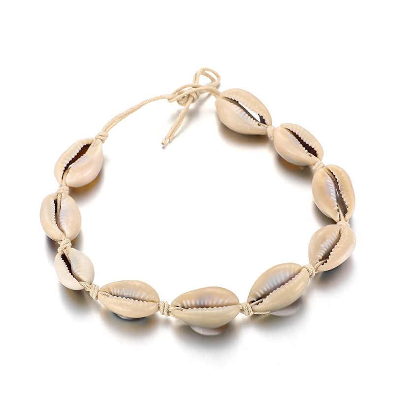Винтажный античный браслет золотого цвета женская 2 цепочка с ракушками геометрический браслет очаровательный богемский браслет на лодыжке Boho бижутерия для ног