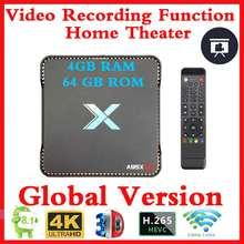 Registrazione Video di Android 8.1 TV Box A95x Max X2 4GB di RAM 64GB ROM Amlogic S905X2 QuadCore 2.4G E 5GH Wifi Smart Set Top Box 4K OTA