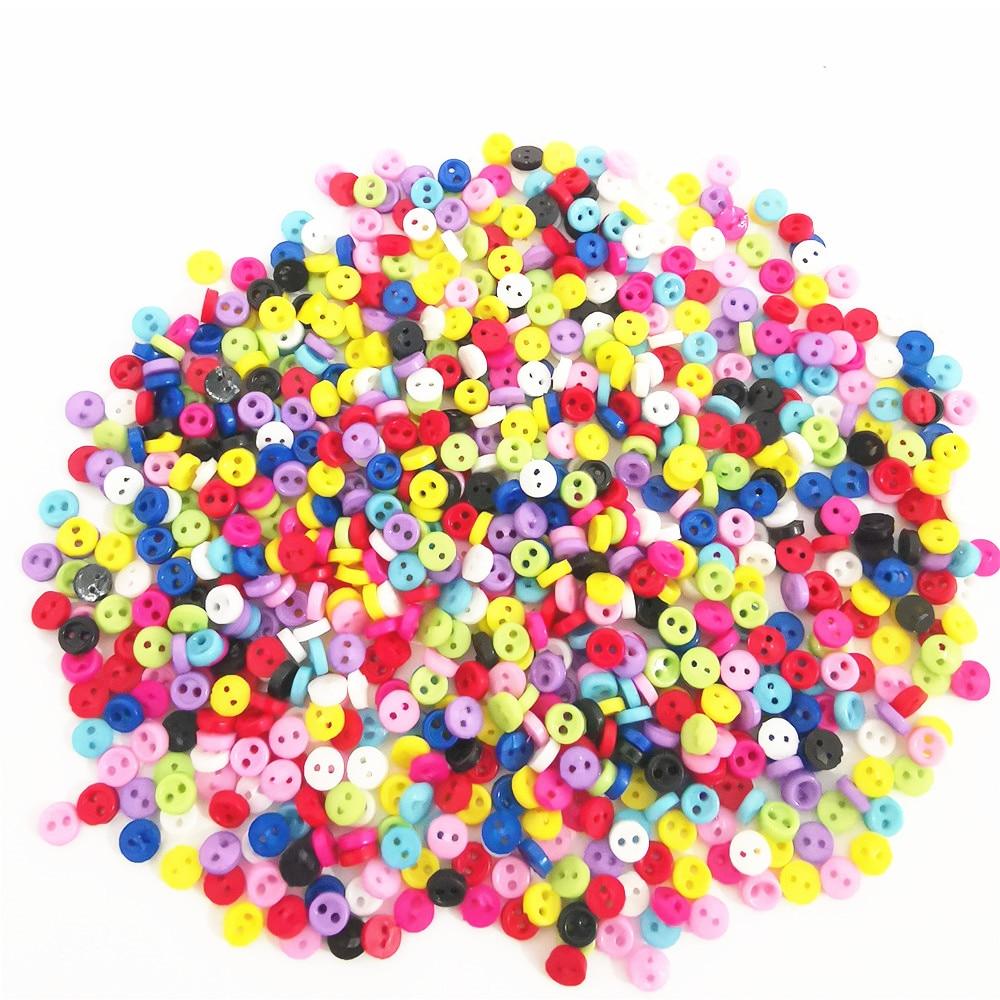 500 шт. 3 мм миниатюрные маленькие пластиковые круглые кнопки для кукол, аксессуары для шитья одежды, поделки