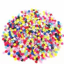 500 pces 3mm misturado mini pequenos botões redondos de plástico para a roupa da boneca costura acessórios diy artesanato