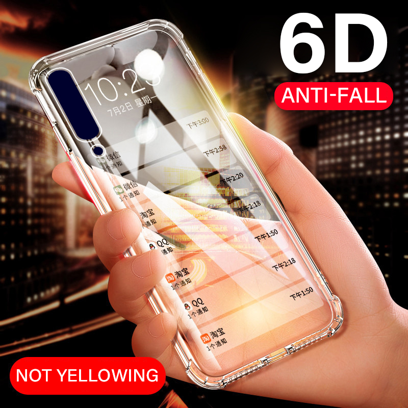 <font><b>Shockproof</b></font> Phone <font><b>Case</b></font> For <font><b>Samsung</b></font> Galaxy A50 Note 9 8 10 <font><b>S9</b></font> S8 S10 Plus A6 A8 A9 A70 A30 A40 A10 <font><b>Cases</b></font> Clear Soft TPU Cover Capa image