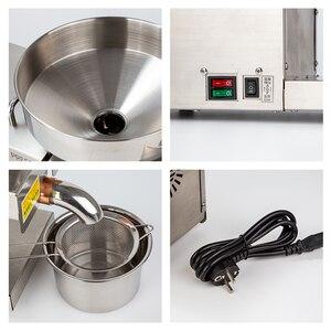 Image 4 - 1500W (Max) Rvs Food Grade Hot Koude Olie Druk Kleine Zakelijke Apparatuur Olie Druk Pinda Druk