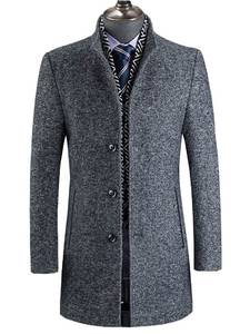 BATMO Trench-Coat 828 Wool 60%Jackets Winter New-Arrival Men's Casual Grey Thick